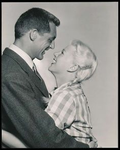 "Cary Grant and Ginger Rogers as Barnaby and Edwina Fulton in ""Monkey Business"", 1952."
