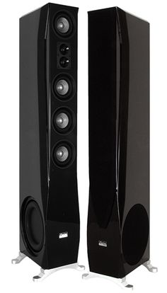 Great pair of Earthquake - Platine Noiree speakers PN-4521, in near perfect shape. These originally sold for $2,700/pr a little over 10 years ago. Extremely solidly built, with black piano lacquer finish. Very unique design. They have a very smooth sound, and a bit of a laid back mid-range. Very...