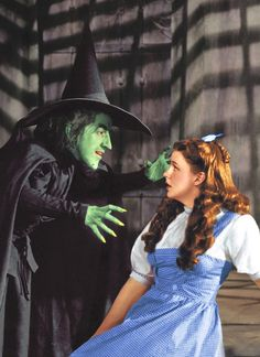 Dorothy Gale in The Wizard of Oz.  This girl drops houses on wicked witches, goes up against apple trees with attitude, tangles with flying monkeys, melts the Wicked Witch of the West into a puddle, and figures out that there's something odd about the man behind the curtain.