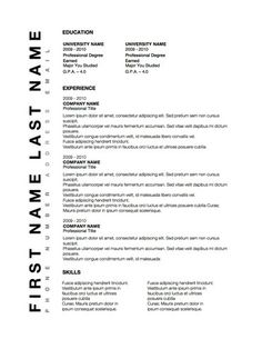 WwwOriginalresumedesignCom Vertigo Resume Template Features A