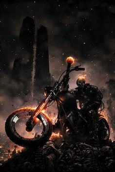 Ghost Rider Halloween costumes are always hot (pardon the pun) among comic book readers of all ages. Ready to see some Ghost Rider Halloween costume ideas? Comic Book Characters, Comic Book Heroes, Marvel Characters, Comic Character, Comic Books Art, Comic Art, Ms Marvel, Marvel Comics Art, Marvel Heroes