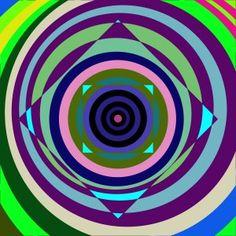 psychedelic casino art of bulging square illusion