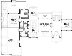 Double Sided Fireplace, Electrical Plan, Built In Desk, Large Bathrooms, Garage Plans, Walk In Pantry, Mediterranean Style, Walk In Shower, Large Windows
