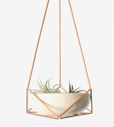 Triangle Himmeli Hanging Planter Set by Morrison Makers on Scoutmob