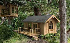 teeny tiny cabin living | Teeny and tiny in the trees!