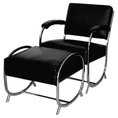 art deco chrome chair