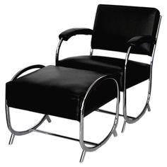 art deco chrome chair