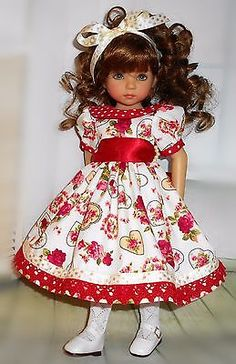 """Handmade dress  compatible with Dianna Effner 13"""" little darling doll"""