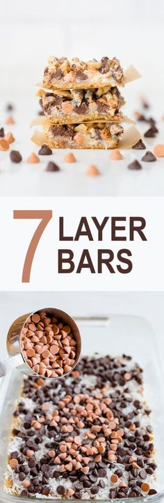 The most delicious 7 Layer Bars are right here! Takes minutes to assemble and seconds to devour! #7layerbars #dessert #recipes #food #kidfriendly