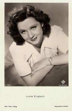 """Popular Austrian folk-actress Lucie Englisch (1902 - 1965) played both leading and supporting roles on stage, in films and on television."" #vintage #movies #actress #Austrian"