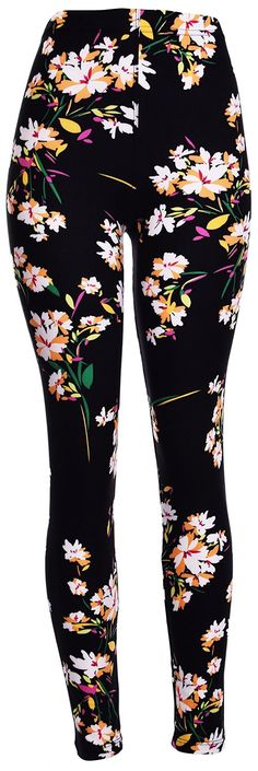 VIV Collection's best-selling printed basic leggings are made of premium material. They will add a fun flair whether you are at work or relaxing on the weekends! Very soft, stretchy, and extremely com