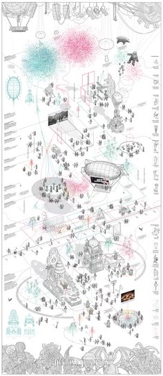 50 Ideas For Drawing Architecture Plan Presentation Croquis Architecture, Architecture Mapping, Architecture Collage, Architecture Graphics, Architecture Portfolio, House Architecture, Axonometric Drawing, Isometric Drawing, Layout Design