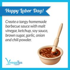 Happy #LaborDay weekend! Kick back and grill out with this simple #BBQ sauce.