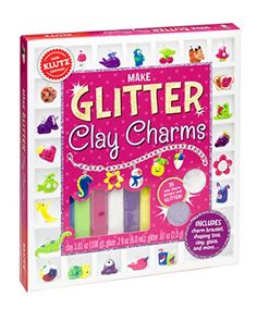 Klutz Make Glitter Clay Charms Craft Kit: Design your own bracelet with itty-bitty sparkly charms! Sculpt miniature food, tiny aliens and robots, pocket-sized unicorns, and dozens of other cuties that you can customize with glitter for extra personality. Jewellery Storage, Jewellery Display, Freebies, Basic Shapes, Clay Charms, Craft Kits, Diy Kits, Mens Gift Sets, Design Your Own
