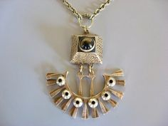 """""""Pentti Sarpaneva for Kalevala Koru (FI), mid-century modernist bronze necklace with a tiger's eye cabochon, Contemporary Jewellery, Amethyst, Vintage Jewelry, Fine Jewelry, Jewelry Design, Pendant Necklace, Drop Earrings, Jewels, Sterling Silver"""
