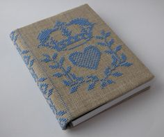 Cross Stitch A6 Journal & Cover - Right Royal Light Blue | Felt