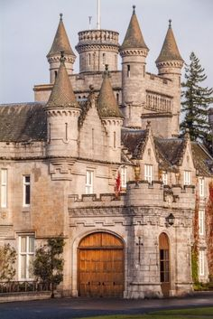 Balmoral Castle, Aberdeenshire, Scotland A bristling bustle of turrets and towers