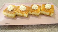Tvarohový rez so slaným karamelom (fotorecept) - recept Dessert Recipes, Desserts, Waffles, Cheesecake, Sweets, Breakfast, Food, Basket, Tailgate Desserts