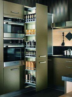 Et toujours : Aspect cuivré pour mon armoire de cuisine - Plus de 25 modèles de cuisine à suivre : la nouvelle sélection - CôtéMaison.fr