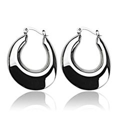 SPIKES 316L Stainless Steel Crescent Moon Casual Click-Top Earrings