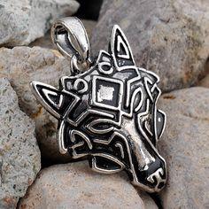 Viking Wolf Mask Necklace