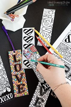 These free printable Valentine's coloring bookmarks are perfect for a unique class pass out. They can be colored before given...or after as a special activity for the recipient. Grab some fun tassels to finish them off...or just leave them as is.