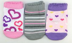 Amazon.com: LITTONE Baby Girls Cotton Heart Stripe Short Socks: Clothing