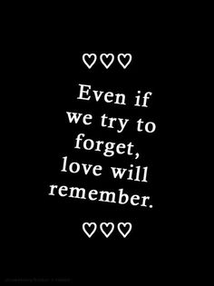 And that is the sad part of it.... That even if we try to forget.... The story is already written and.... Love will always remember it...