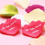 Personalized Silk Rose Petals - 100 pcs - Garden Theme Wedding Favors - Wedding Favor Themes - Wedding Favors & Party Supplies - Favors and Flowers