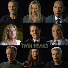 A promotional clip for the upcoming Showtime Twin Peaks reboot features several cast members old and new talking about how excited they are to be involved. Serie Twin Peaks, Drama Series, Tv Series, Twin Peaks Showtime, Jack Nance, Log Lady, David Lynch Twin Peaks, Kyle Maclachlan, Laura Palmer