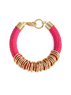 Gift For Mom Pretty in Pink Bracelet Fuchsia by ReasonToBePretty