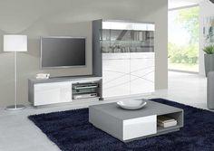 Meuble de télé 1 porte et 1 niche très design en laqué blanc. Retrouvez d'autres modèles de la collection meuble de télévision sur www.luniversinterieur.com