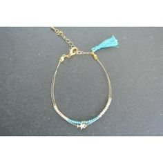 Bracelet double étoile et rocaille doré