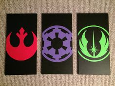 READY TO SHIP Star Wars Jedi Empire Rebel Canvas by KaleyCrafts