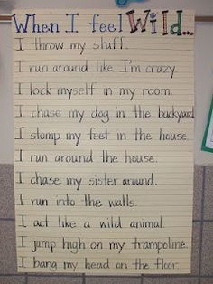 When I feel Wild (Where the Wild Things are Theme) anchor chart-FF
