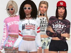 The Sims Resource: Athletic Sweatshirt Collection 02 by Pinkzombiecupcakes • Sims 4 Downloads