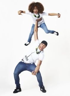 Ashley Banjo & Perri Luc Kiely from Diversity model this year's men's t-shirt for BBC Children in Need, available now in ASDA #CiN http://bbc.in/SzDpGZ