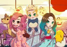 Kah Bak, Gabbie Fadel e Luba❤️ Fanart, Malu, Pokemon, Unicorns And Mermaids, Princesa Disney, Kawaii, Nerd Geek, Noragami, Powerpuff Girls