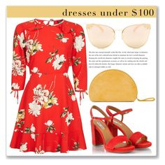Red flowers by blueyed on Polyvore featuring polyvore fashion style Topshop Fratelli Karida Quay clothing