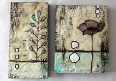 """after having Stephanie Lee for a weekend at my STUDIO, i was so inspired. not only is her art beautiful, so is she inside and out. she made encaustic """"doable"""" and i think we as students left with like 10+..."""