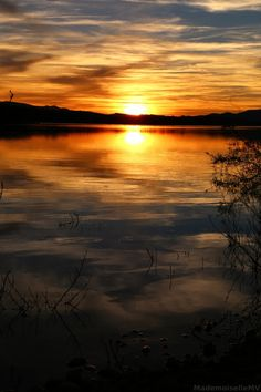 Sunset over the lake... by Mademoiselle MV on 500px