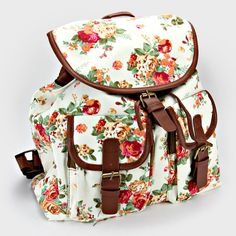 Shabby Chic Backpack in Ivory on Emma Stine Limited