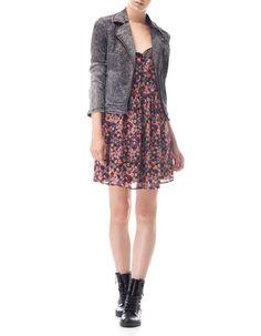 Vestido flores puntilla