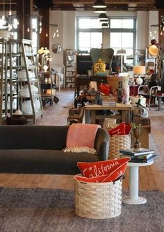 This is an adorable boutique! Love how candid it looks! Schoolhouse Electric, True Homes, Home Office Storage, Brick And Mortar, Retail Space, Store Displays, Retail Shop, Store Fronts, Retail Design