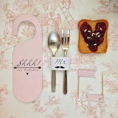 A Sunday morning with: Kit stampabile per la colazione a letto di San Valentino