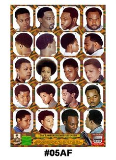 9 black hair salon posters