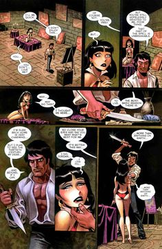aapstra (Vampirella comic page process by Bruce Timm. From...)