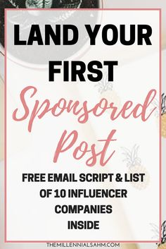 By focusing on developing a cohesive brand image, creating engaging content, and having organic engagement and growth on social media, you can also land your first sponsored post! Blogging For Money Blogging For Beginners Sponsored Post
