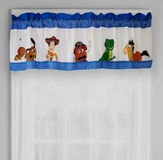 Toy Story Window Valance . $29.99. Woody & his best friends are displayed on this window valance. Great addition to any kids' bedroom Toy Story Bedding, Toy Story Nursery, Toy Story Room, Disney Kids Rooms, Disney Bedrooms, Disney Home, Cumple Toy Story, Toddler Themes, Cool Kids Bedrooms