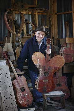 Ed Stilley in his studio, from 'Gifted: The Instruments of Ed Stille' (all images by and courtesy of Tim Hawley)